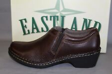 NEW Women's Eastland Amore Brown Casual Comfortable Supportive Clogs
