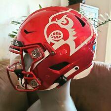 Louisville Cardinals Riddell Speed Flex Candy Apple Game Worn Football Helmet