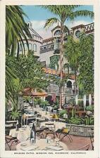 Postcard CA California Riverside Mission Inn Spanish Patio Nr MINT Linen ca1940s