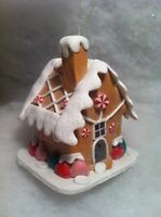 Gingerbread House gumdrop candy Christmas tree ornament Iced roof from Macy's