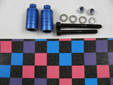 2 x FIREWHEEL-INC BLUE SCOOTER GRIND PEGS NEW WILL FIT MOST SCOOTERS + GRIP TAPE