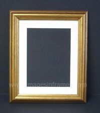 """CLASSIC GOLD 10""""x8"""" MOUNTED PICTURE AND PHOTO FRAME FOR 6""""x8"""" PHOTO"""