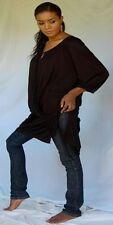 black blouse top tunic raglan cross over plus 4X 5X 6X zt822