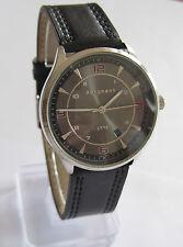 Bergmann 1998 * Rund * Herren Quarz Uhr * Lederband Schwarz