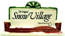 Dept. 56 Snow Village Promotional Sign 1989 Nib 99481 Free Shipping