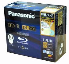 10 Panasonic Bluray Disc 50GB Printable Blu ray Region Free 2x Speed