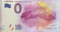 BILLET 0  EURO LASCAUX BISONS ADOSSES FRANCE   2017  NUMERO 100