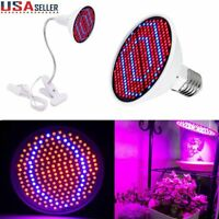 LED Grow Light 200LED UV IR Growing Lamp for Indoor Plants Hydroponic Plant USA