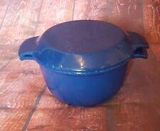 Blue Nacco Casserole Cooking Dish Cast Iron Enamel Oven Pot Denmark Dutch Lid