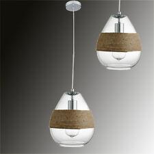 Suspension Verre Tissu Cordon ø20cm Lampe Lampe Suspension LED