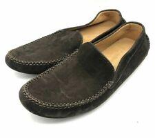 New Men John Lobb Dark Brown Suede Debranded Moccasins Shoes UK 5 on Last 5810