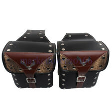 Scooter Left & Right Tool Bag Luggage SaddleBag For Harley Davidson Motorcycle