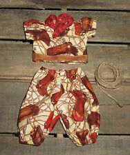 "Handmade Doll Clothes for 12"" - 14"" Baby Dolls - ""Cowboy"" Boys Pants Shirt Set"