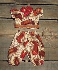"Handmade Doll Clothes for 12"" - 14"" Baby Dolls - ""Cowboy"" Boys Pants Shirt Set"
