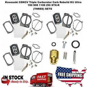 Kawasaki CDKCV Triple Carburetor Carb Rebuild Kit Ultra 150 900 1100 ZXi STX-R