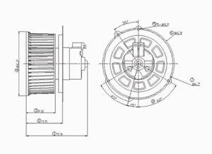 HVAC Blower Motor Front TYC 700014
