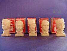 Figurine publicitaire Total - Lot de 5 bustes avec boîtes d'origines