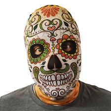 Day Of The Dead Skull Orange Design 3D Effect Face Skin Lycra Fabric Face Mask
