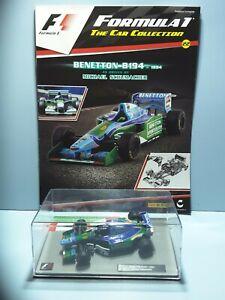 MICHAEL SCHUMACHER BENETTON B194 -1993 1:43 Scale PANINI Formula 1 collection 22