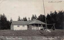 C67/ Bennington Vermont VT Real Photo RPPC Postcard 1908 Deerview Cabin