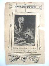 stampa antica MARIA IMMACOLATA DA LOURDES BERNARDINA in maltese Malta 1800