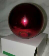 "Vtg handmade mirror glass Gazing ball Garden Globe 4"" yard decor ornament Red"