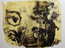 1983 Abstract landscape modernist print signed