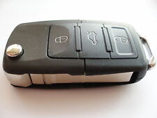 Replacement 3 button flip key case for VW Golf Passat Beetle Caddy remote fob