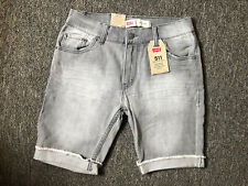 brand new boys size 14 gray levi jean shorts