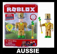 ROBLOX Action Figure ~ Mr Bling Bling + Virtual Code ~ Toy NEW