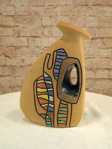 Moderne Vase Kanne Keramik Dreieck Dreieckform 31 cm hoch