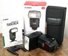 Canon 580EX Speedlite Digital Flashgun Flash with Box & Case