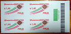 2009 Italia Quartina posta ordinaria codice a barre 1223