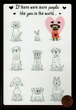 Valentine Dalmation Poodle Husky Dogs Red Shine -Valentine's Day Greeting Card