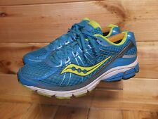 Women's Saucony Jazz 17 Blue Green Running Shoes UK 8