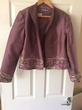 Condici Silk Lilac Top and Matching Jacket Size 16