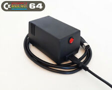 Commodore 64 Power Supply - C64 PSU,  (UK 230VAC plug), Black, LED, Power Switch