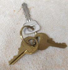 Lot 3 Original MASTER Lock Padlock Keys Brass 3793 2777 1 Flat Stamped No Number