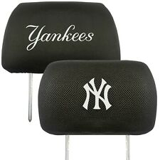 New York Yankees 2-Pack Auto Car Truck Embroidered Headrest Covers