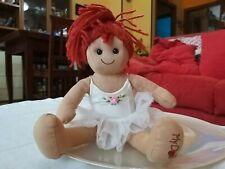 Rarissima Bambola MyDoll ballerina Peluche capelli rossi Alta35Cm da collezione