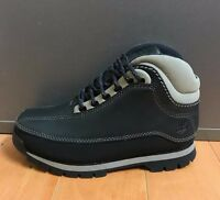 TIMBERLAND EURO DUB HIKER BOOTS NAVY BLUE VINTAGE YOUTH KIDS PS SZ 1-3 C  86720