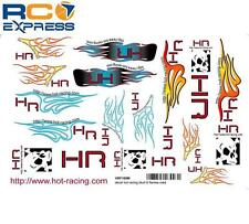 Hot Racing Decal Hot Racing Skull & Flames Med HRF100M