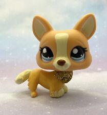 Littlest Pet Shop Authentic # 2290 Orange Cream Gold Glitter Corgi European Excl