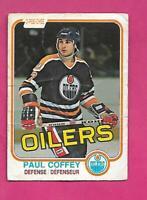 1981-82 OPC # 111 OILERS PAUL COFFEY  ROOKIE POOR CARD (INV# D1794)