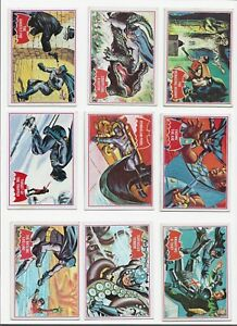 Batman Red Bat set of 44 cards 1966 Topps very good to excellent