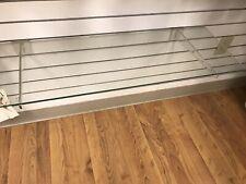 """Lot of 10 : 12"""" Clear Acrylic Slatwall Shelf Brackets."""