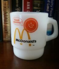 Anchor Hocking Fire King McDonald's Good Morning Coffee Mug Cup  Milk Glass