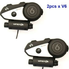 2pcs English Ver. Vimoto V6 Helmet Bluetooth Headset Motorcycle Stereo Earphone