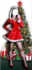Mrs NOËL A intégrer Affiche debout grandeur nature découpée Père Noel