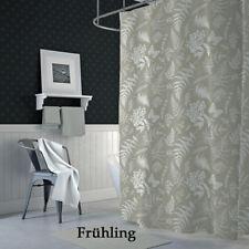 Textil Duschvorhang 120x200 cm FRÜHLING Khaki Weiß inkl.Ringe